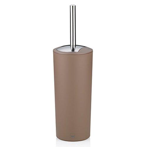 Kela 22777 WC-Bürste und Behälter, 36,5 cm Höhe, Kunststoff, Matt, WC-Garnitur, Marta, Taupe