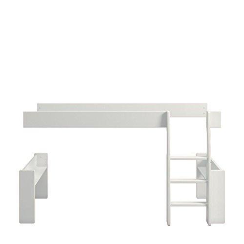Steens For Kids Umbauset vom Einzelbett zum Spielbett , Hochbett, 113 x 114 x 206 cm (B/H/T), Kiefer massiv, weiss