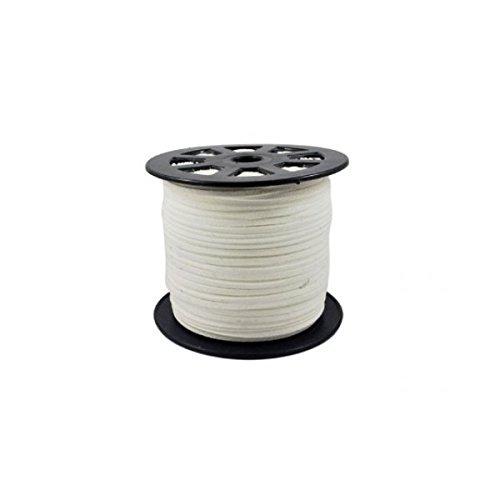 creafirm-10M cavo in camoscio sintetico piatto bianco
