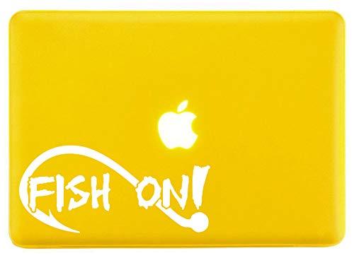 Aufkleber für Laptop/Laptop, Motiv Fischfische auf Barsch, Weiß -