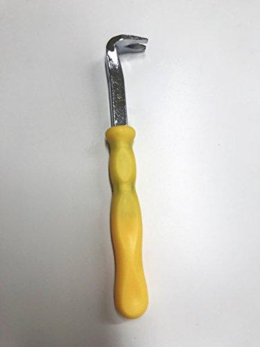 takestop® Heftklammerentferner Nagelheber manuell Hebel Punkte Nägel Brechstange aus Stahl mit Griff aus Kunststoff Instrument DIY
