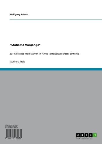 """""""Statische Vorgänge"""": Zur Rolle des Meditativen in Awet Terterjans sechster Sinfonie"""