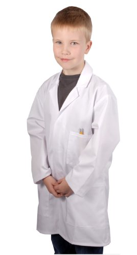Children's White Lab Coat / Doctor Coat / Science Coat (range of sizes) (Age 11-12 (chest size 32