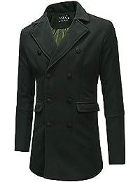 da3bc89e5d ChallengE Giacca Giubbotto Uomo Invernale Eleganti Giacche e Cappotti  Cappotto A Maniche Lunghe da Moto Parka Giubbini Pullover Top…