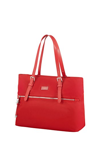 SAMSONITE Karissa - Shopping Bag M Borsa da spiaggia, 38 cm, Rosso (Formula Red)