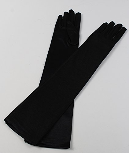 Halloween Long Black Gloves Vampire Devil Cruella DeVille Ladies Gloves by Card and Party Store