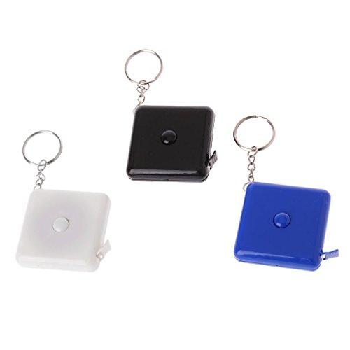 Yyooo 1,5 M Maßband Kunststoff Tragbare Schlüsselanhänger Einziehbare Weiche Lineal Nähwerkzeug