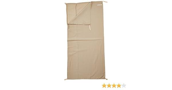 185 x 80 cm Outwell Erwachsene Schlafsack-innenbezug Cotton Liner Single Beige