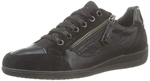 Geox Damen D Myria A Sneaker, Schwarz (Black C9999), 39 EU