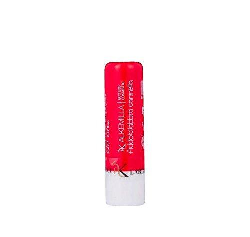 ALKEMILLA - Addolcilabbra Cannelle - Beurre hydratant pour les lèvres - Certifié Bio - Avec Huile de Noisettes,de Tournesol et de Ricin - Apaisant et Hydratant - Produit en Italie - 5 ml