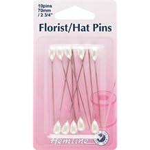 Hemline Florist/Hat Pins 70mm 10pcs