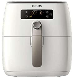 Philips Avance Collection 0.8 Liter Air Fryer,Turbo Star + Baking Acc. Non Stick Surface White 1425W - HD9645