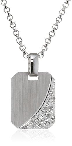 XAANA Herren-Kette mit Anhänger Premium 925 Silber rhodiniert 55 cm-AMZ0418