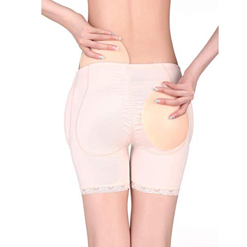 Hip Enhancer Damen Butt Lifter Hohe Taille 4 Stück Silikon Pad Einsätze CD Dress Up Unisex Plus/Hüfte Frauen Control Knickers (S-2XL),Skintone,L