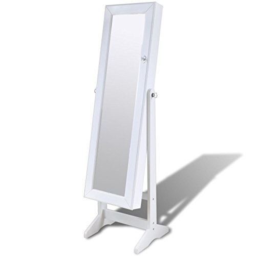 vidaXL-Espejo-De-Pie-Joyero-De-Pie-Con-Luz-LED-Armario-Guarda-Joyas-Organizador