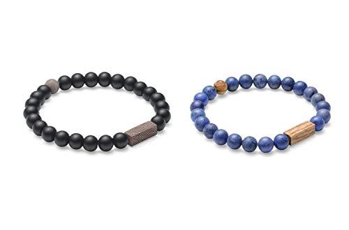 BeWooden   Perlenarmband Unisex   (Partner) - Sets   Einzigartiges Design   Hergestellt im Herzen Europas   Armband Armreif   Handgefertigt (Celli & Aliq, 17)