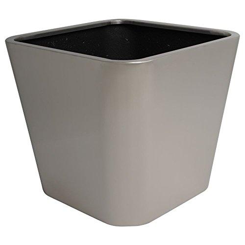 hydroflora 61425005 Pot à plante Value Line Property Advanced Smooth 45 x 45 x 40 cm, en acier inoxydable V4A brossè mat