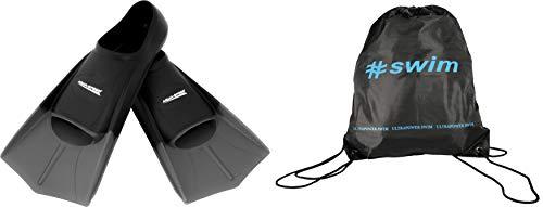 Aqua Speed Trainingsflossen + Ultrapower Rucksack | Schwimmflossen | Kurzflossen | Farbe: silber/26 Größe: 37/38
