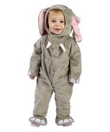 Creative Converting Suave Elefante Infantil/Infantil Traje Talla 12-24m