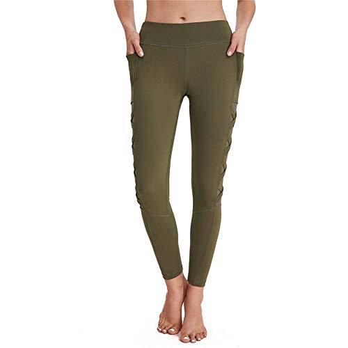 Green Laufhosen (Cxmm Women 'S Green High Elastic Leggings/Jogginghose/Fitnesshose/Yoga-Laufhose/Hüfte Schnelltrocknende Ofenrohrhose)