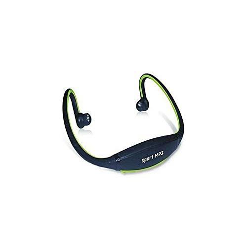 TrAdE Shop Traesio- Cuffia MP3 Sport Senza Fili + Micro SD 4 GB per Jogging Fitness Running Cuffie