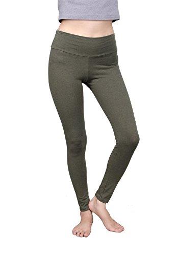 Oliven-capri-hosen (Lofbaz Damen Leggings Übung Sport Jogginghose Yoga hose Olive Grün Size M)