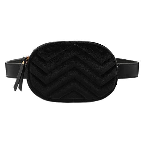 CRAZYCHIC   Bolso Cintura Ovalado Mujer   Bolso Riñoneras