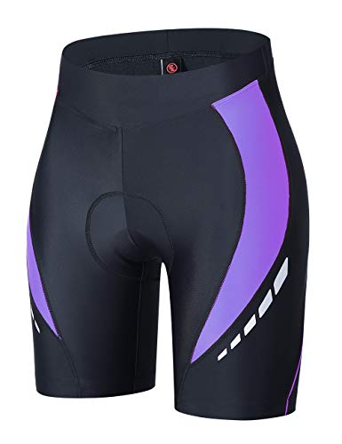 Souke Sports Damen Radhose Kurz 4D Gepolstert Mountainbike Shorts Atmungsaktiv Radhose Damen