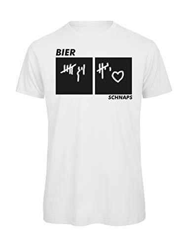 Bierzähler T-Shirt inkl. Kreide (S)