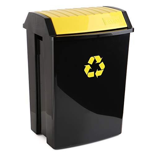TATAY Contenedor de Reciclaje para envases y plástico, Capacidad para 50 litros, Plástico polipropileno...