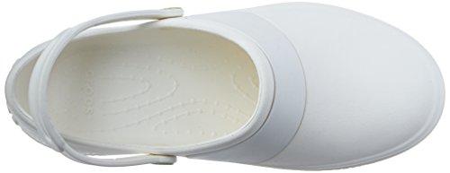 Crocs Mercy Work, Sabots - Femme Blanc (White/White)