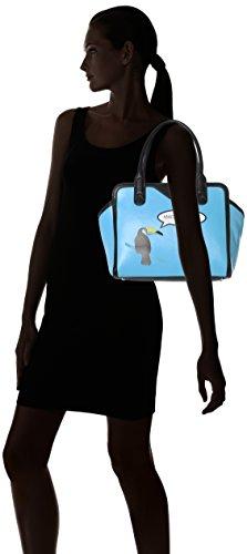 Missco Girl - Made You Look Toucan Tote, Borsa a secchiello Donna Blu (Blue (Aqua))