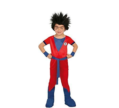 Guirca Dragon _ Ball _ z Costume de Guerrier Combattant pour Enfant de 7 - 9 Ans, Couleur Bleu et Rouge, 7/9 (122/134), 82761