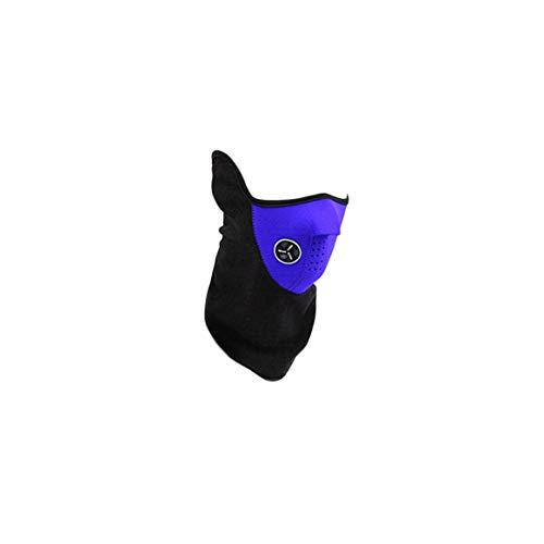 Delicacydex Unisex Mode Frühjahr Outdoor Sports Motorrad Fahrrad Radfahren Paintball Filter Guards Staubdicht Halswärmer Gesichtsmaske-Blau