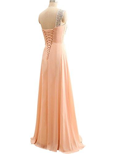Now & Forever cristal une épaule robe de demoiselle d'honneur soirée Pêche