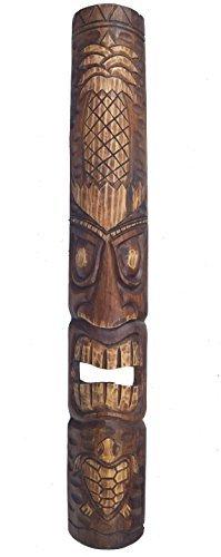 Mscara-de-madera-Tiki-en-el-HAWI-Look-in-100cm-LARGO-CON-PIA-Motivo-Tiki-Mscara-Mscara-de-pared-MAUI