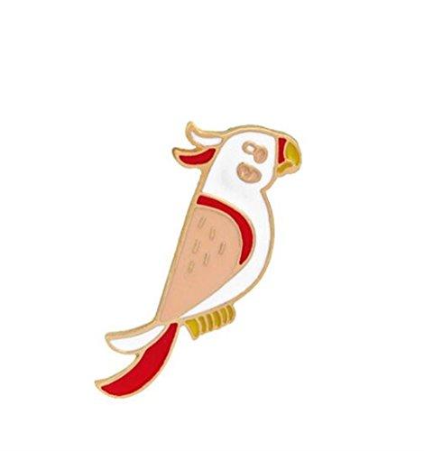 Broschen für Frauen Kleidung Dekoration Schmuck Kreative Sommer Stil Papagei Broschen Abzeichen Button Abzeichen (bunt) -