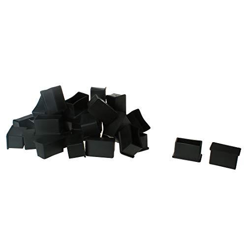 uxcell PVC-Beinkappen, 36 Stück, Bodenschutz, rutschfest, reduziert Lärm, verhindert Kratzer für Hartholz, Möbel, Stühle, Schreibtisch, a18062700ux0038, 20 x 40mm