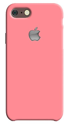 Back cover for Apple iPhone 7 | Designer case |Plain simple and beautiful Pink color cover with apple logo iPhone 7 case| 3D Premium quality Single color, Matte Finish,Poly-Carbonate hard plastic)