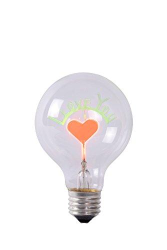 Lucide Bulb Lampe-Ř 8 cm-LED-Transparent, Glas E27, 3 W, Transparant 8 x 8 x 12.5 cm