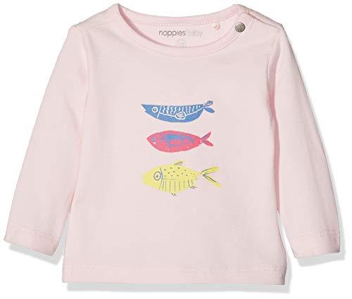 Noppies Baby Mädchen Langarmshirt G Tee Slim ls Rogers Pink (Flamingo P016) 68