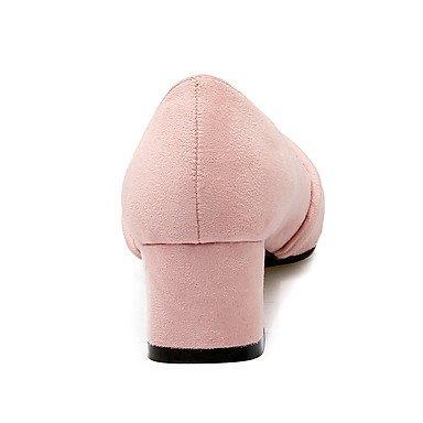 Talloni delle donne Primavera Estate Autunno Inverno Dress Altro Fleece ufficio & carriera basso casuale tacco grosso perla nero grigio rosa Gray