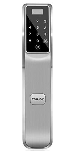 ZXC Smart Türschloss LED-Touchscreen-Tastatur einfach zu Eiche Smart Home elektronisches Schloss Passwort Sicherheit Türschloss zu installieren,Silver - Eiche Tastatur