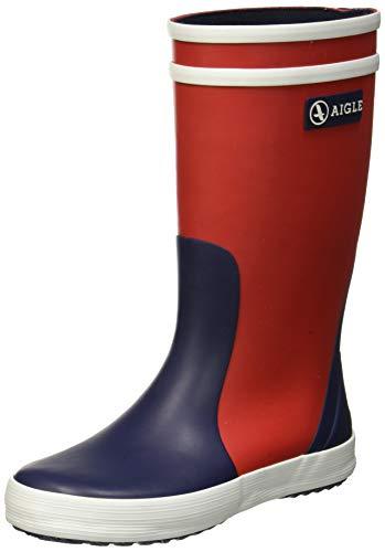 Aigle Unisex-Kinder Lolly Pop Gummistiefel, Mehrfarbig (Rouge/Indigo/Blanc 001), 30 EU