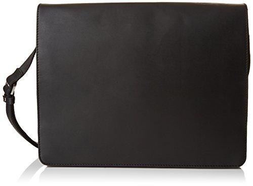 Visconti - Borsa Messenger in pelle A4 Notebook/ipad - 18548 - Unisex adulto- Olio Nero