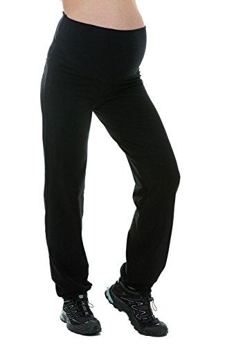 Mutterschafts Hose Umstands Hose Jogginghose Trainingshose Freizeithose schwarzen Bauchband S (small) Umstandsmode von MY TUMMY ®©™