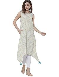 SRISHTI by FBB Women's Cotton a-line Kurta