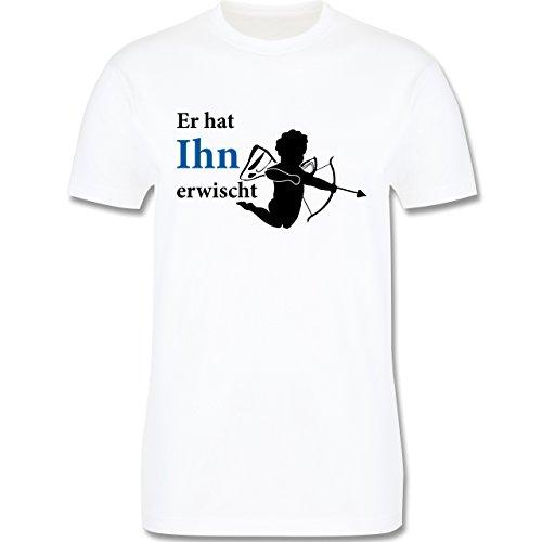 JGA Junggesellenabschied - Er hat Ihn erwischt - Herren Premium T-Shirt Weiß