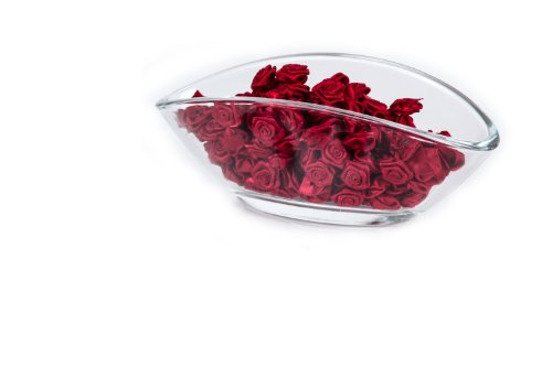 200 x Rosen 15mm - Deko Rosen Röschen - Satinrosen | Bordeaux Rot