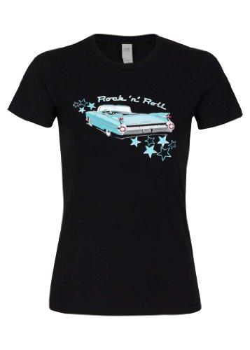 pretty-attitude-camiseta-para-mujer-diseno-de-cadillac-rockabilly-color-negro-y-turquesa